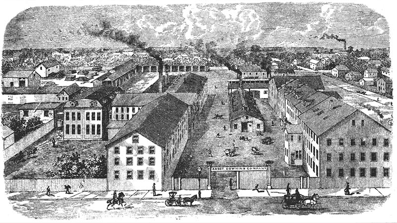 Abbot-Downing & Company's factory in Concord, New Hampshire.