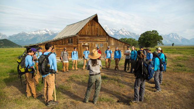 Wells Fargo support means teens can have a summer job making long-needed improvements to Wyoming's Grand Teton National Park.