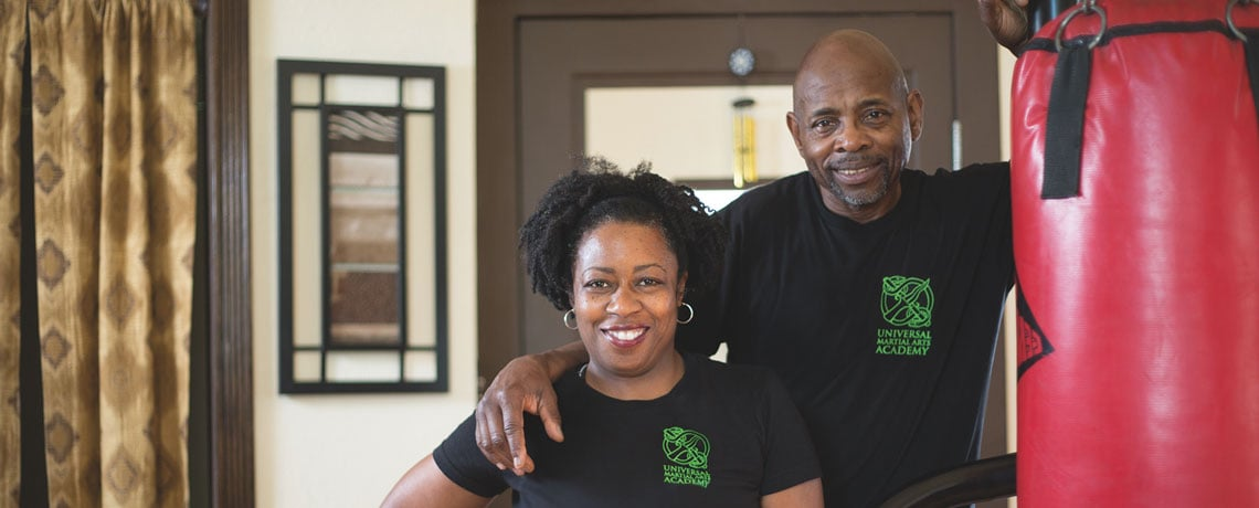 Universal Martial Arts Academy owners James and Deundra Hundon