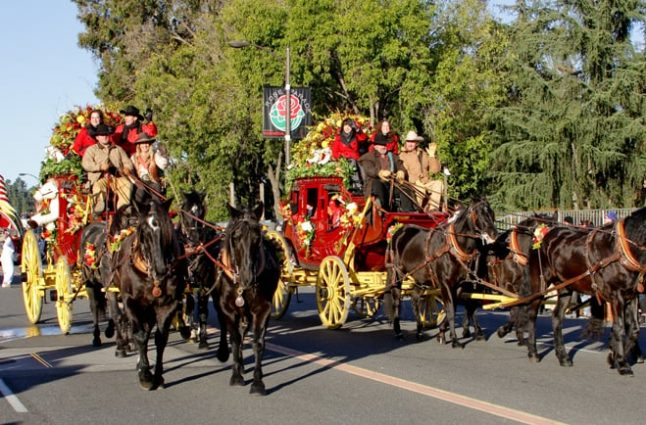 Two other Wells Fargo stagecoaches got an earlier start in the parade and recognized Villa Esperanza Services, a Pasadena nonprofit.