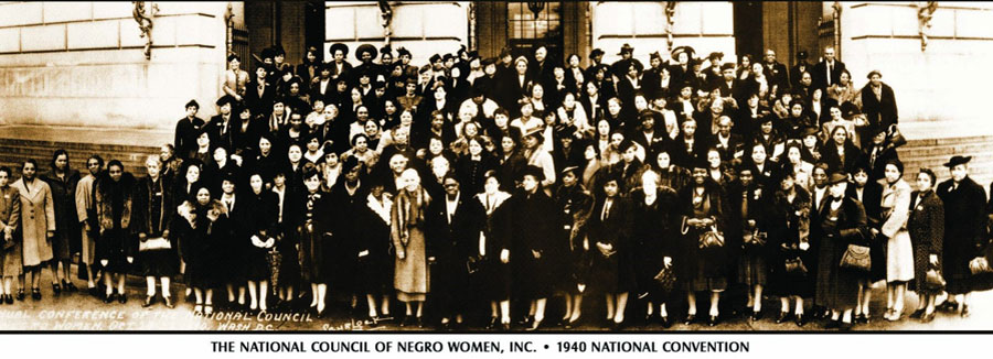 A group photo of attendees at the 1940 national convention for the National Council of Negro Women.