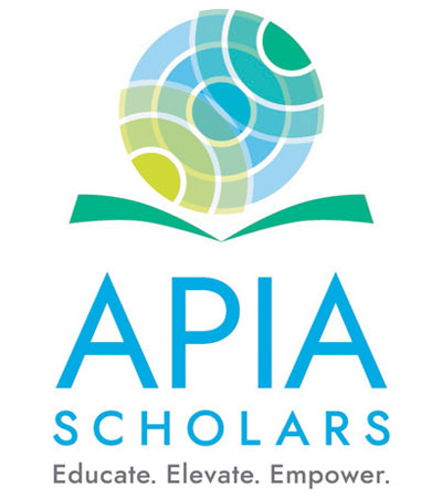 "The APIA Scholars logo, which includes the words, ""Educate. Elevate. Empower."""