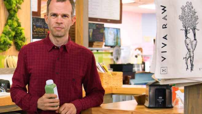 Scott Harris started Viva Raw after noticing the health benefits of drinking cold-pressed juices.
